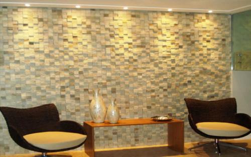 Mosaico 5x5 3D São Tomé amarelo